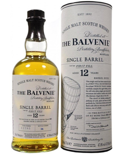 Skotska whisky Balvenie Single Barrel 12y 0
