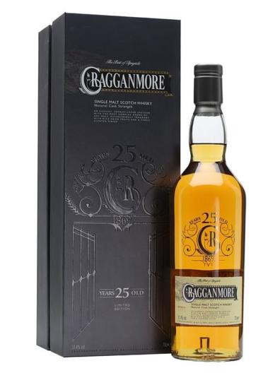 Skotska whisky Cragganmore Natural Cask Strength 25y 0