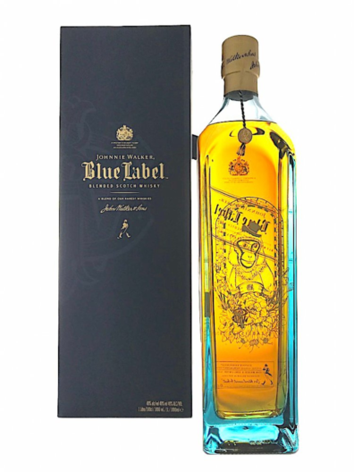 Skotska whisky Johnnie Walker Blue Label Monkey 1l 40%