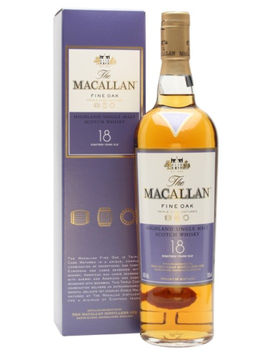 Skotska whisky Macallan Fine Oak 18y 0