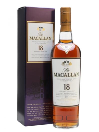 Skotska whisky Macallan Sherry Oak 18y 0